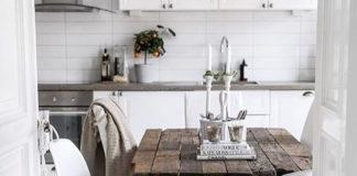 Stół w stylu skandynawskim